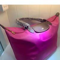 grandes totes de compras venda por atacado-Punho longo Lady moda bolsa grande capacidade prático Compras Tote de compra impermeável sacos de nylon sacos de ombro para as Mulheres 2019