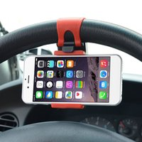 Wholesale rubber phone holder for car for sale – best New Car Phone Holder Mounted on Steering Wheel Cradle Smart Mobile Phone Clip Mount Holder Rubber Band For Samsung iPhone Xiaomi