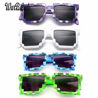 Wholesale mirror games for sale - Group buy 10pcs Kids Sunglasses Smaller Size Cos Play Action Game Toys Sunglasses Mosaic Boys Girls Children Pixel Eyewares