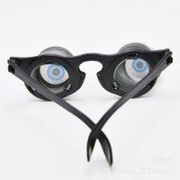 april-dummkopf-tageskostüme großhandel-Halloween-Partei-Kostüm Requisiten Feder Gläser seltsam Eyeball Gläser April Fools Day Trick Maden machen