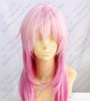 Wholesale straight pink cosplay wig online - WIG shipping New Guilty Crown INORI YUZURIHA Pink Mix Color Cosplay Party Wig