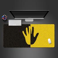 ingrosso mouse d'oro bianco-Romanzo e creativo Giallo E Mouse Mano Nera pad in gomma Mousepad Gioco PC Computer Mouse Pad per Hot trackball Mats