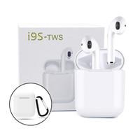 mini fone de ouvido magnético venda por atacado-I9s tws Earbuds Mini Sem Fio Bluetooth Fones De Ouvido para android iPhone fone de Ouvido Bluetooth v5.0 Fones De Ouvido com caixa de carregamento magnético