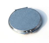 New Silver Pocket Thin Compact Mirror Blank Round Metal Makeup Mirror DIY Costmetic Mirror Wedding Gift