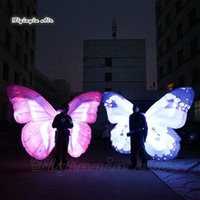 Wholesale wings decor for sale - Group buy Concert Stage Decor Lighting Walking Inflatable Butterfly Wing Costume m Colorful Adult Wearable Blow Up Butterfly Suits For Parade Show