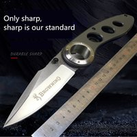 rescatar cuchillos de supervivencia al por mayor-Nueva aleta plegable cuchillo F47 Mango de aluminio 440C caza cuchillos supervivencia supervivencia acampar al aire libre herramientas de rescate de fruta EDC
