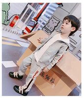 Wholesale tiger boys clothing resale online - G Kids Zipper Coats Tiger Trousers Suits Fall Children Boutique Clothing T Little Boys Girls Long Sleeves Suits