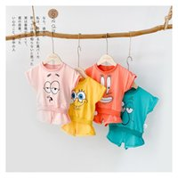 Wholesale newborn sports clothes for sale - Group buy Baby Set Newborn Summer Brand Cotton Baby Set Leisure Sports Boy Cartoon T shirt Shorts Sets Toddler Clothing Boy Clothes