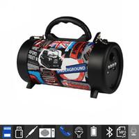 bluetooth kablosuz bombox toptan satış-Taşınabilir Hoparlör Kablosuz Subwoofer Açık Hoparlör ile Bluetooth Hoparlör Hifi Soundbar Mikrofon Ile FM radyo Boombox CH-M58