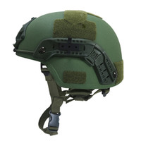 Wholesale tactical helmets for sale - Group buy real MICH NIJ IIIA Army Tactical helmet Ballistic Aramid UHMWPE Safety Helmet Head Protection for Hunting Airsoft War Games