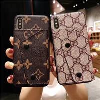 deri çanta iphone çantası toptan satış-Kafes Deri Cüzdan Debriyaj Kapak Case Arka Paris Çiçek Kickstand Kılıf Telefon Kabuk için iPhone 6.5 6.1 7 8 6 s Artı