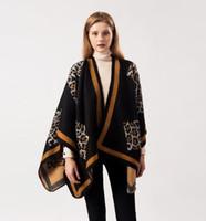 ingrosso sciarpa del cachemire del leopardo-Nuova sciarpa 2019 sciarpa firmata da donna modello leopardo sciarpa di marca in cashmere doppio uso aria condizionata scialle mantello all'ingrosso 080802