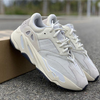 Wholesale athletic shoes size 47 for sale - Group buy 2019 Analog V2 Wave Runner Kanye West Running Shoes M Designer Suede White Basf Athletic Sports Trainers Size