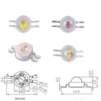 pcb white led пожелтение оптовых-Freeshipping 50pcs / пакет 2 * 3W Желтый Белый высокой мощности светодиодный чип с 20мм Star PCB
