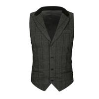 ingrosso panciotto paisley-Mens Casual Pocket Beston Droit Classic Paisley Jacquard Gilet Fazzoletto Fazzoletto da sposa da sposa Tie Vest Suit Pocket Set