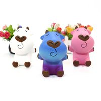 Wholesale milking cow toy for sale - Group buy Milk Cow Squishy Cartoon Doll Slow Rising Jumbo squishies Charms Scented Bread Cake Fun Kid Toy Gift