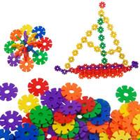 blocos de brinquedos letra venda por atacado-520 pçs / set blocos de construção do floco de neve brinquedo carta digital tijolos gráficos bebê crianças brinquedo educativo diy montagem bloco crianças classic toys