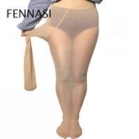 ingrosso collant nero delle donne più il formato-FENNASI Summer Ultrathin Tights Donna Moda Slim Vita alta Sexy Donna Collant Collant in nylon Plus Size Sexy Nero