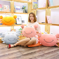 Wholesale blue crab toy for sale - Group buy Cute Simulation Crab Plush Animals Stuffed Plush Crab Pillow Cushion Crab Toys Decoration Birthday Gifts Kids Toys