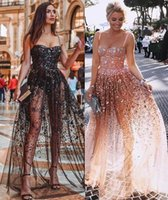Wholesale black see through stockings for sale - Group buy in stock Colorful Sequins Evening Dress Women Sexy See through Backless Patchwork Slip Dress Shinning Maxi Dresses Black