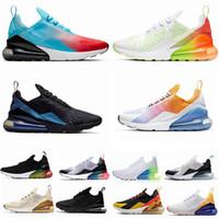 koşu ayakkabıları mavi beyaz toptan satış-270 Parra Sıcak Punch Resmi Blue Bay Bayan Ayakkabı Üçlü Beyaz Üniversitesi Kırmızı Zeytin Volt Habanero 27C Flair 270S Spor ayakkabılar 36-45 Koşu