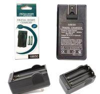 ingrosso caricabatterie-18650 Battery Charger Dual Slot caricabatterie EU Plug all'ingrosso di ricarica USB per pile ricaricabili riutilizzo agli ioni di litio con l'imballaggio al