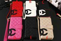 c кожаные чехлы оптовых-Большая буква C женский кожаный чехол для телефона с откидной крышкой для iphone XS max Xr X 7 7plus 8 8plus 6 6plus с фирменным слотом для карт
