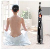 ingrosso penna di massaggio elettronico di energia del meridiano di agopuntura elettronica-Laser terapia elettrica punto di agopuntura di massaggio penna Meridian Energy elettronico Penna corpo Testa all'indietro del collo Massager del piedino
