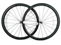 ingrosso le ruote della bici eccellenti-Ruote in carbonio super leggero 700C Climbing ruote 38mm profondità 25mm larghezza copertoncino / Tubolare bici da strada ruote in carbonio UD finitura opaca EVO decalcomanie