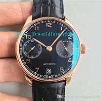 мужские часы оптовых-ZF V4 18K розовое золото португальский 7 дней IW500710 Мужские часы SWISS 52010 Автоматический 28800vph запас хода Лучший дизайнерские часы