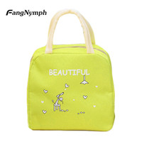 ingrosso spuntini gialli-FangNymph Yellow Portable Travel Picnic Pouch 2018 New Oxford Child Meal Warming Cartoon Thermal Insulation Thermal Snack Lunch Bag