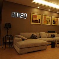 montres murales led achat en gros de-AimecorModern Numérique LED Table Horloge murale Veilleuse de nuit Montre-réveil Affichage 24 ou 12 heures * 30 D19011702