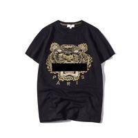 ingrosso cime di ricamo delle donne-Estate Designer T Shirt Uomo Top Tigre Testa Lettera Ricamo T Shirt Mens Abbigliamento Marca manica corta Tshirt Donna Top S-2XL