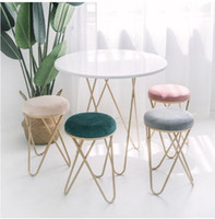 Admirable Iron Art Cosmetic Bench Dressing Chair Nordic Restaurant Bench Sofa Tea Table And Stool Ins Creative Small Stool For Shoes Stools Inzonedesignstudio Interior Chair Design Inzonedesignstudiocom