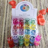 Wholesale candle waxing for sale - Group buy Scented Candles Colorful Sea Shells Jelly Crystal Wax Transparent Glass Candle Wedding Banquet Party Christmas Decorative Candle GGA2731