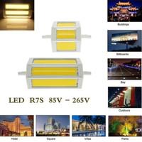 led r7s 5w lamba toptan satış-Toptan R7S LED Aydınlatma zemin lambası 78mm 118mm 189mm Projektörler ac85-265v koçanı LED ampul soğuk beyaz sıcak beyaz halojen lamba yerine lamba