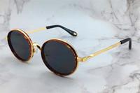 ingrosso occhiali ambra-New fashion designer occhiali da sole 7052 ovale colore ambra telaio storta popolare estate stile di vendita uv400 occhiali di protezione