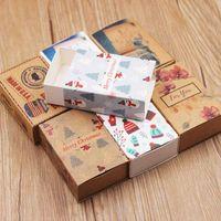милые свадебные поделки оптовых-10pcs per lot Mutil pattern Merry christmas gifts package box Flower design cute candys/wedding favors/arts&crafts display box