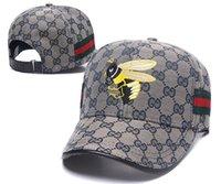 yaz şapkaları erkek toptan satış-Yeni Marka Erkek Şapka Snapback Ayarlanabilir Arı BeyzbolGucci Yaz lüks Moda Şapka Yaz Trucker Casquette Kadınlar Nedensel Topu Cap Caps