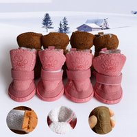 Wholesale dresses puppies for sale - Group buy Puppy Cotton Blend Winter Snow Warm Waterproof Walking Boots Cute Fancy Dress up Pet Dog winter shoes zapatos para perro