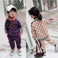 jaquetas de crianças roxas venda por atacado-Garoto roupas de grife meninas roxo baby girl roupas de grife carta impressão little boy roupas de grife set baby mom dress frete grátis