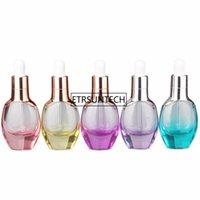 botellas de esencia al por mayor-Botellas de aceite esencial de la pipeta de la pipeta de la botella de vidrio 30ML, botella de embalaje de la emulsión de la esencia de los cosméticos F1873