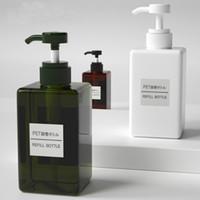 schaum flüssige seife großhandel-Flüssigseifenspender 450ML 250ML Travel Square Schaumspender Duschgel Körperwäsche Shampoo Pumpflasche