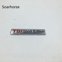 emblème tdi achat en gros de-TDI Sport Edition Badge Emblème Logo Autocollant De Coffre Arrière Pour VW Golf Beetle Scirocco TDI TSI GT