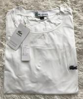 berühmte markenhemden großhandel-Lac Krokodil Stickerei berühmte Marke Casual Mens Oansatz T-Shirts Mode Herren Top-Logo T-Shirt Kurzarm Herren T-Shirt 2019