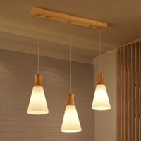 Wholesale light cord sets resale online - Wood Lamp Kitchen Island Pendant Light Set of on Bar Dining Room Hanging Lamp Hanglamp Kitchen Light Fixture Luminaire