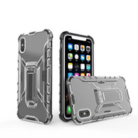 Wholesale iphone 8plus case with ring online – custom Slim Fit Clear Armor Absorption Protective Phone Cover Case with Metal Ring Kickstand Holder for iPhone P P Plus XS X XR Xs Max