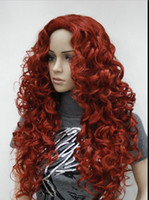 Wholesale hair daily full wig resale online - LL sexy red highlight tip curly long synthetic hair full daily wig ZERO3033