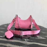 Wholesale bag pack waterproof for sale - Group buy Waterproof canvas chains purse shoulder bag for women Chest pack lady Tote handbags presbyopic purse messenger bag re edition handbags