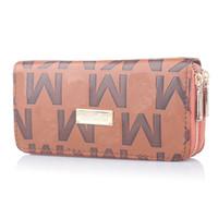 Wholesale purse for sale - Group buy Women Luxury Long Wallet Brand Coin Purse Ladies Double Zipper PU leather Designer Wallets Clutch Money bag Fashion Card Holder PocketB61303
